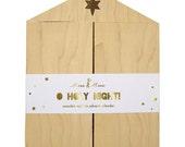 Advent Calendar Kit, Wooden Nativity Set & DIY Banner, Meri Meri 'O Holy Night' Xmas Centerpiece Christmas Decor, Kids Advent Calendar