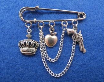 Sherlock  Moriarty kilt pin brooch (50mm).