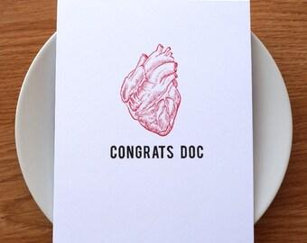 doctor graduation card