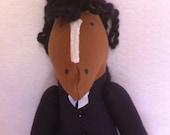 """Hand made TALLY HO! Soft Horse Doll - """"Burton"""""""