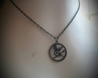 Dollar S/H! Bronze Tone Mockingjay Necklace New Hunger Games