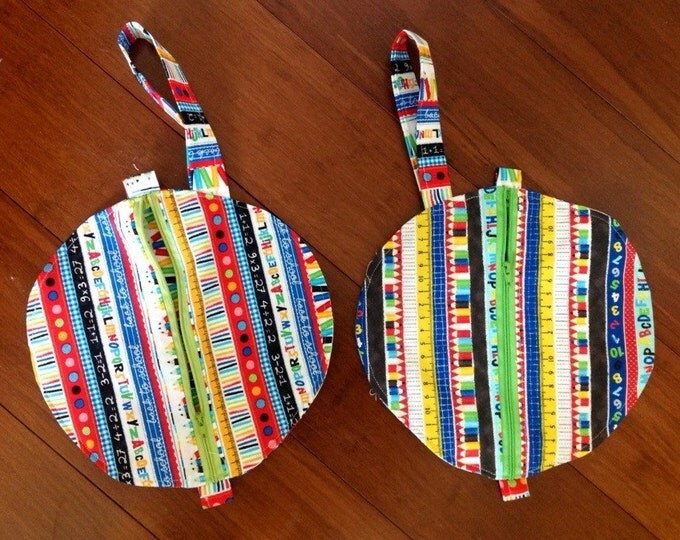 """Teacher wristlet / great for those short trips in the halls bag 9""""x 9"""""""