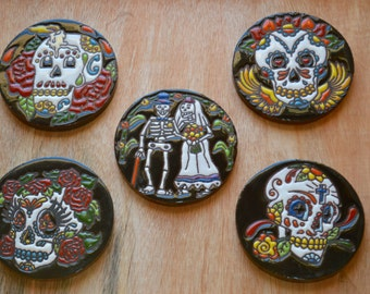 5 Mix Day of the Dead  Coasters