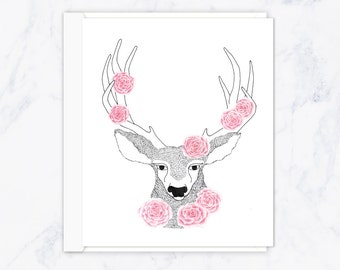 Hello My Deer Greeting Card