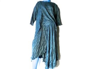 Vintage UNIQUE Handwoven Blouse AND Skirt, 2 Piece Set, ZINDAH