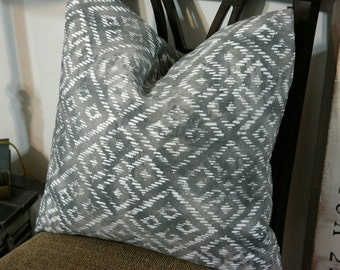 Pillow Cover, BOTH SIDES Designer Pillow Cover 18x18, 20x20, 22x22,24x24,Lacefield Nepal Slub Slate