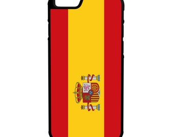 Spain Flag iPhone Galaxy Note LG HTC Hybrid Rubber Protective Case