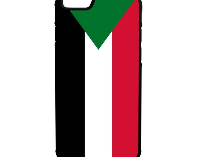 Flag of Sudan iPhone Galaxy Note LG HTC Hybrid Rubber Protective Case