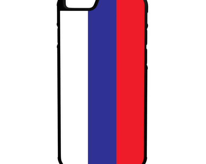 Russia Flag iPhone Galaxy Note LG HTC Hybrid Rubber Protective Case Russian