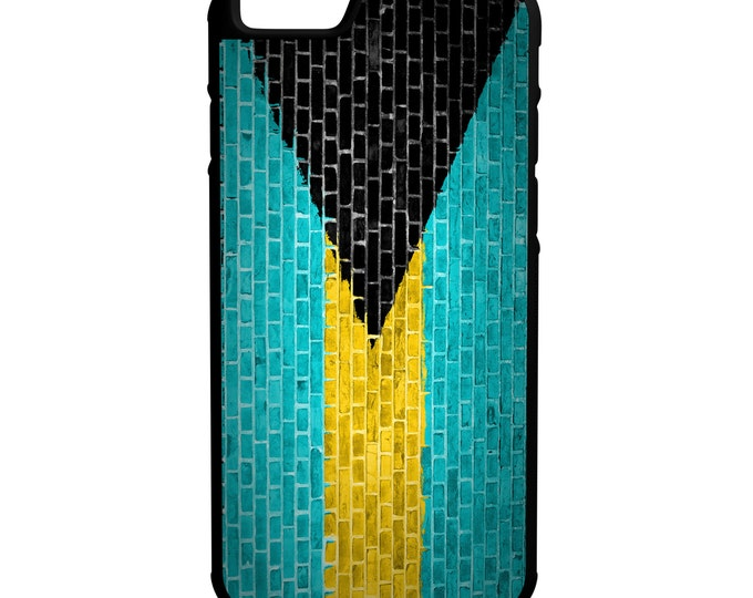 Bahamas Flag Brick Wall iPhone Galaxy Note LG HTC Hybrid Rubber Protective Case