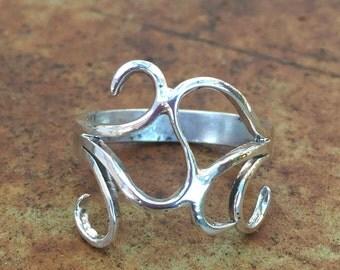 Swirly Silver Ring