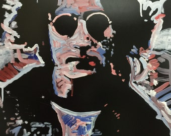 John Lennon Art The Beatles Art by Matt Pecson Pop Art Painting on Canvas Wall Art Boyfriend Gift Husband Gift for Him MADE TO ORDER