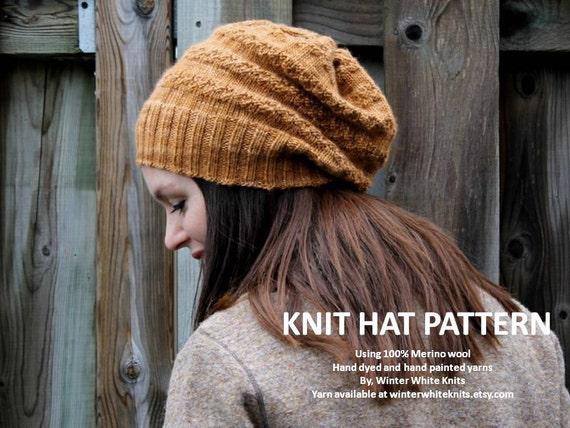 Cable Hat Knit Pattern : Knit hat pattern PDF Instant Download Knitting Pattern knit