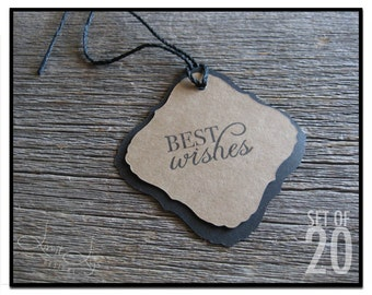 Best Wishes Gift Tag - set of 20