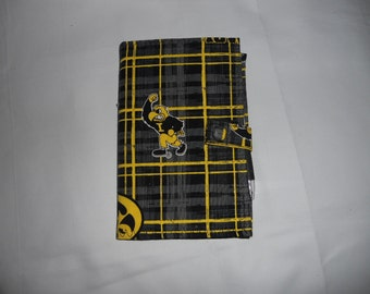 Iowa Hawkeyes Fabric Cover for 6x4 Memo Notebook - Includes Memo Pad and Pen