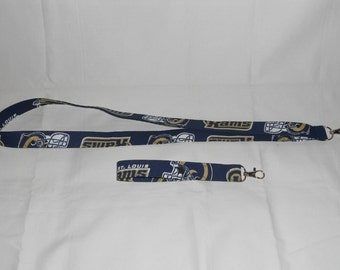 St Louis Rams Key Chain Lanyards - Assorted Sizes