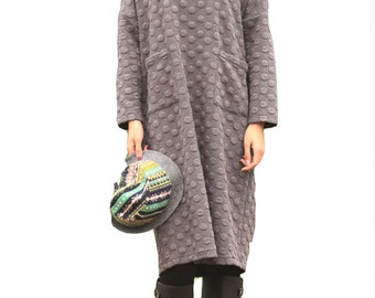 Fashion loose style embossed dress