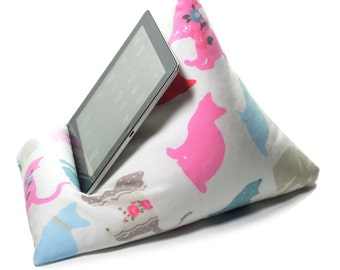 eBean Tablet Cushion - CAT FABRIC - Bean Bag Suitable for all iPads / Tablets