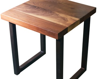 Walnut wood End Table, Entry Way Table, End Table for Living Room, Side Table in Custom Size