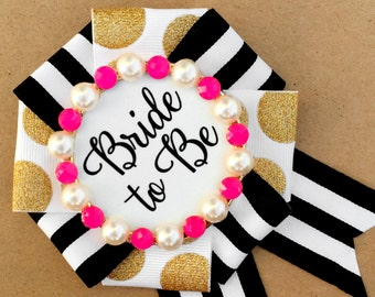 bride to be badge - the pink kate