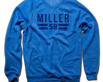 Von Miller NFLPA Officially Licensed Denver Crew Sweatshirt S-2XL Von Miller Font B