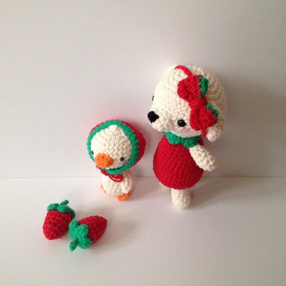 Amigurumi Strawberry Doll Pattern : Amigurumi Bear Amigurumi Duck Amigurumi Strawberry by ...