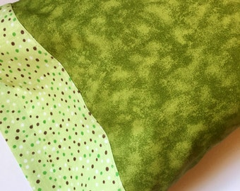 Pillowcase, Toddler Pillowcase, Child Pillowcase, Travel Pillow Case, Green Pillowcase, Child Gift, Gift Under 20,