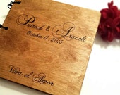 Custom Hand Engraved Wood Wedding Album - Scrap Book - Guest Book - Retirement - Baby Shower - Custom Made - Personalized Your Way