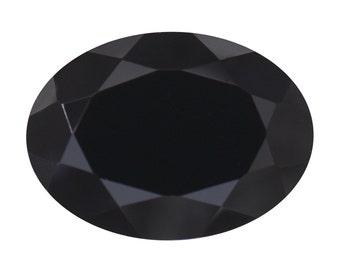 Thai Black Spinel Oval Cut Loose Gemstone 1A Quality 14x10mm TGW 6.60 cts.