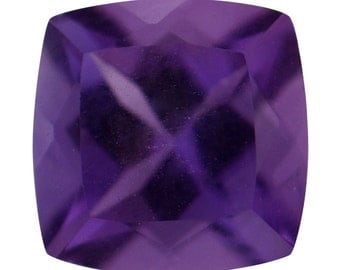 Uruguayan Amethyst Loose Gemstone Cushion Cut 1A Quality 5mm TGW 0.40 cts.