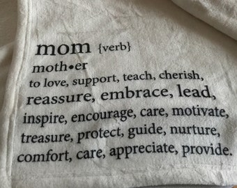 Personalized Custom Throw Blanket for Mom.   The meaning of mom...