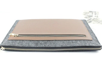 Zipper felt Macbook Air 13 sleeve, Macbook sleeve 13, Macbook case 13, Macbook Air case, Macbook Air sleeve, Laptop sleeve, laptop case 003