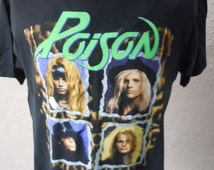 Size XL (50) -- 1990 Poison Concert Shirt (Double Sided) (Deadstock Unworn -- Mint)