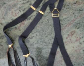 Gorgeous 1940s-50s Pioneer Suspenders / Braces