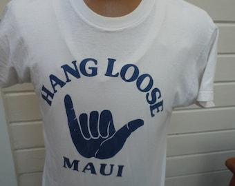Size L -- Real Vitnage 1970s Hang Loose Shirt