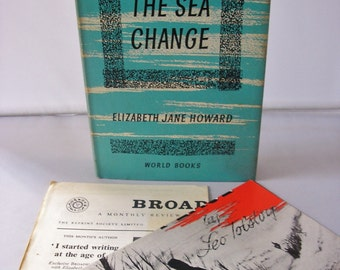 The Sea Change Elizabeth Jane Howard Hard back book 1961 bonus publisher's sheets from 1961 1960s 60s dramatic novel with dustcover 317
