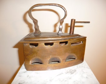 Antique French bronze pressing iron - circa 18th Century