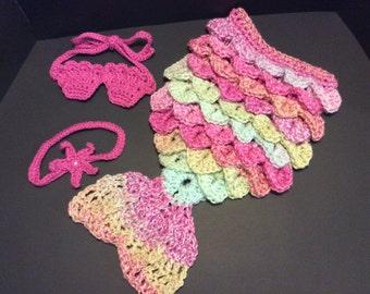 Mermaid Newborn Baby Crochet Photo Prop/Baby Shower Gift/Newborn Photography Prop