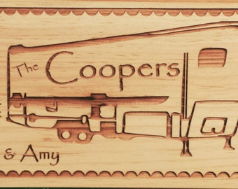 Custom Cedar Sign (5th Wheel)