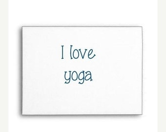 SALE I Love Yoga Stamp, Rubber Stamp, Custom Rubber Stamp, Wood Handle or Self Inking
