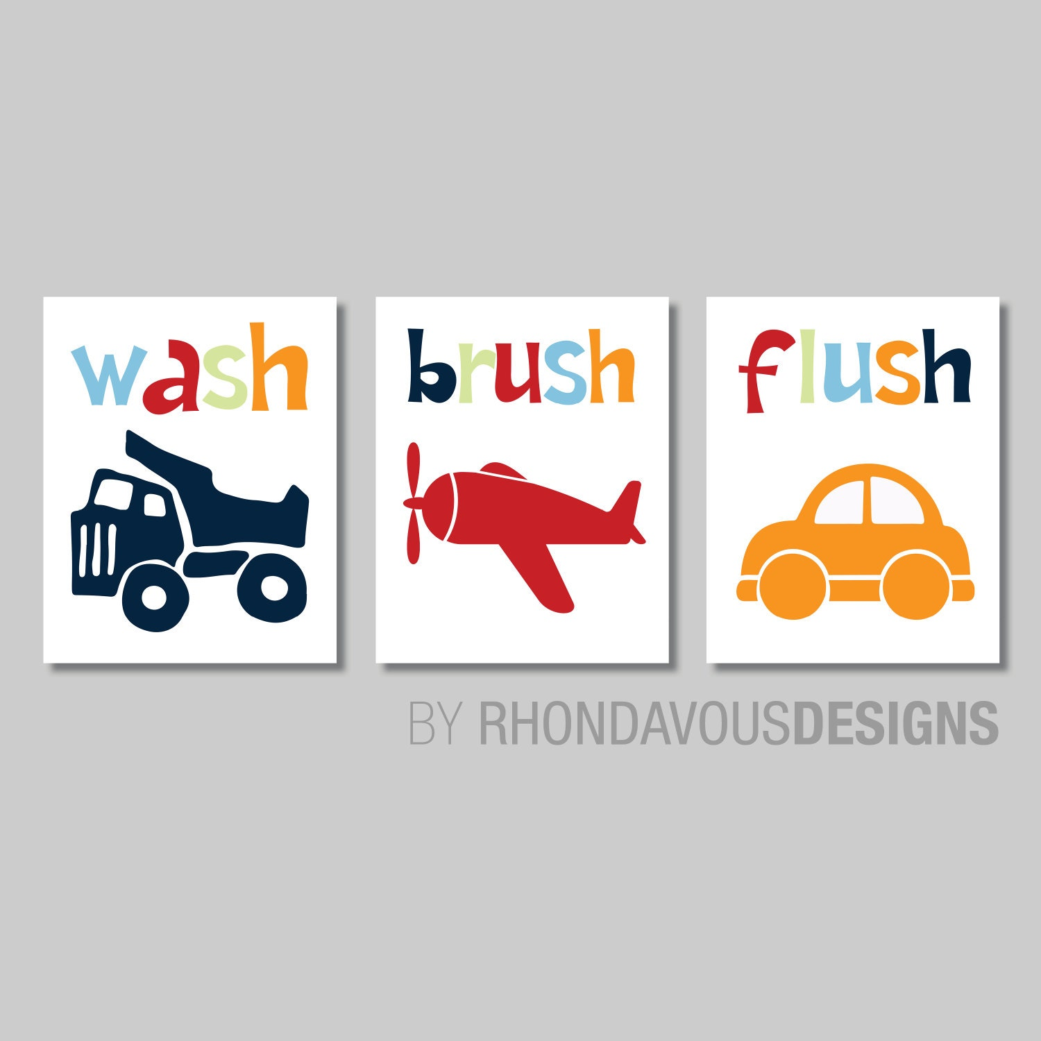 Kids Bathroom Wall Art transportation bathroom art prints. kids bathroom art. kids