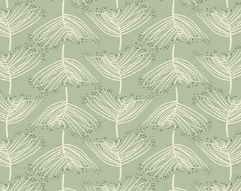 Laced in Moss KNIT, Forest Floor Collection by Bonnie Christine for Art Gallery Fabrics 6100