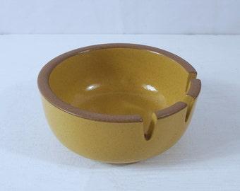 Vintage Heath Ceramics Ashtray in Mustard - Edith Heath Pottery Ashtray