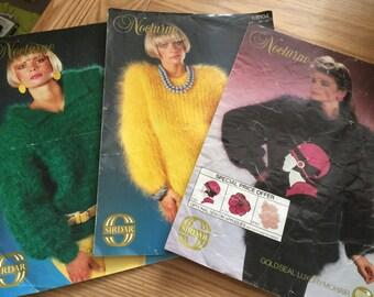 3 Vintage Nocturne Knitting Patterns