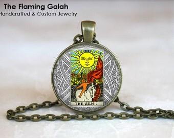 THE SUN TAROT Pendant • Major Arnaca • Mystic Tarot Sun • Occult • Fortune Teller • Symbolic • Gift Under 20 • Made in Australia (P1249)