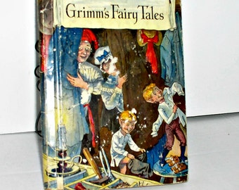 "Vintage ""Grimm's Fairy Tales"" book,Rand McNally,1938"