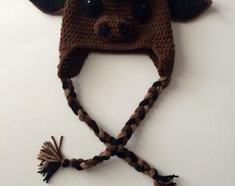 Crochet Buffalo Hat