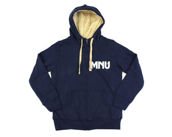 District 9: Mnu Sherpa Lined Zip-up Hooded Top