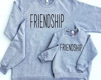 FRIENDSHIP | bb | bigbrother | comfy | sweatshirt | twinning | matching shirts | mom and me