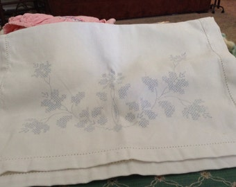 Vintage Unused Dresser Scarf Needle Work